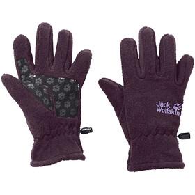 Jack Wolfskin Fleece Gloves Lapset, aubergine